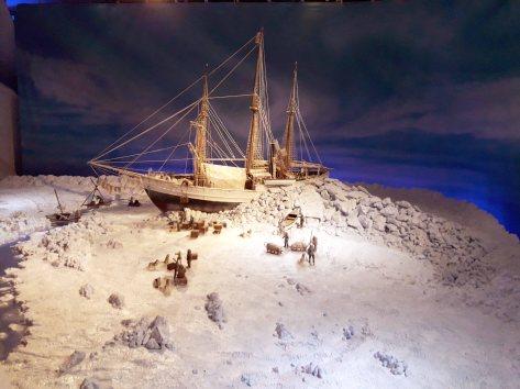 Maqueta de la expedición al polo