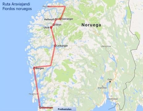 Ruta por los fiordos noruegos